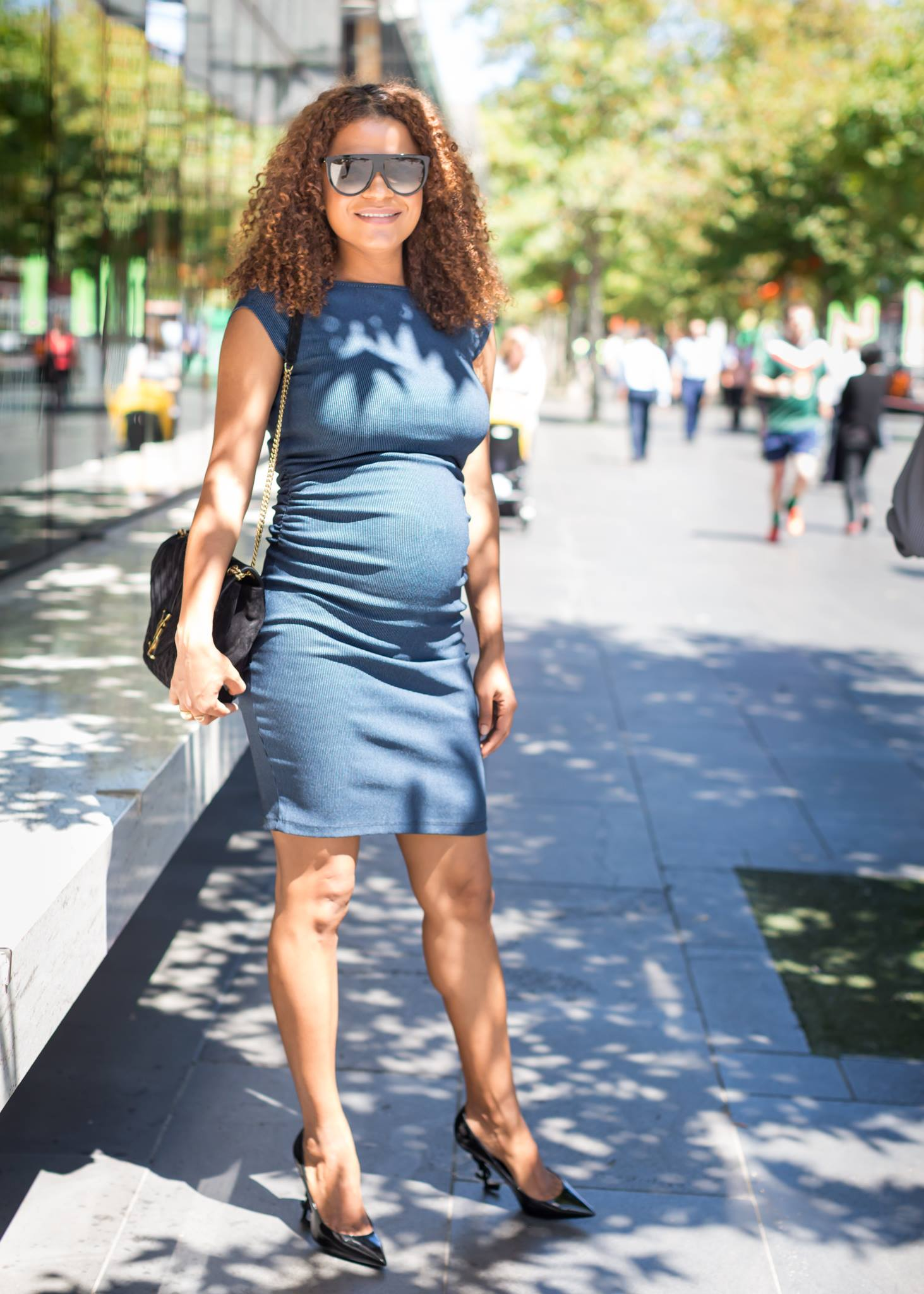 Victoria Latu, Talking Shop, Pregnant dress hot, Maternity style