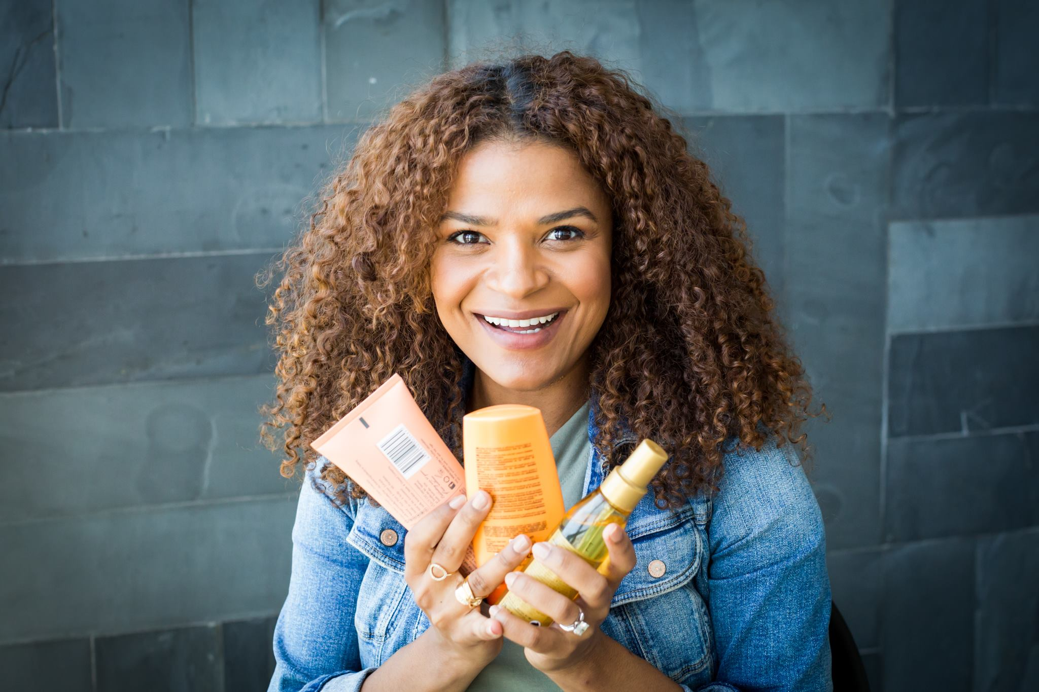 VIctoria Latu, Curly hair Products
