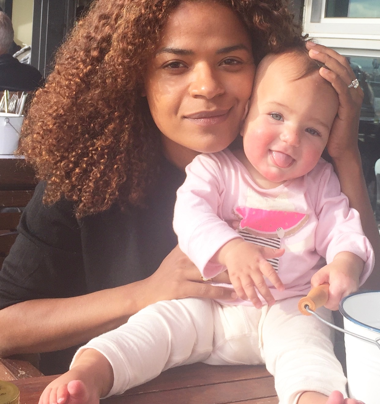 Victoria Latu and Daughter talking mother's Day