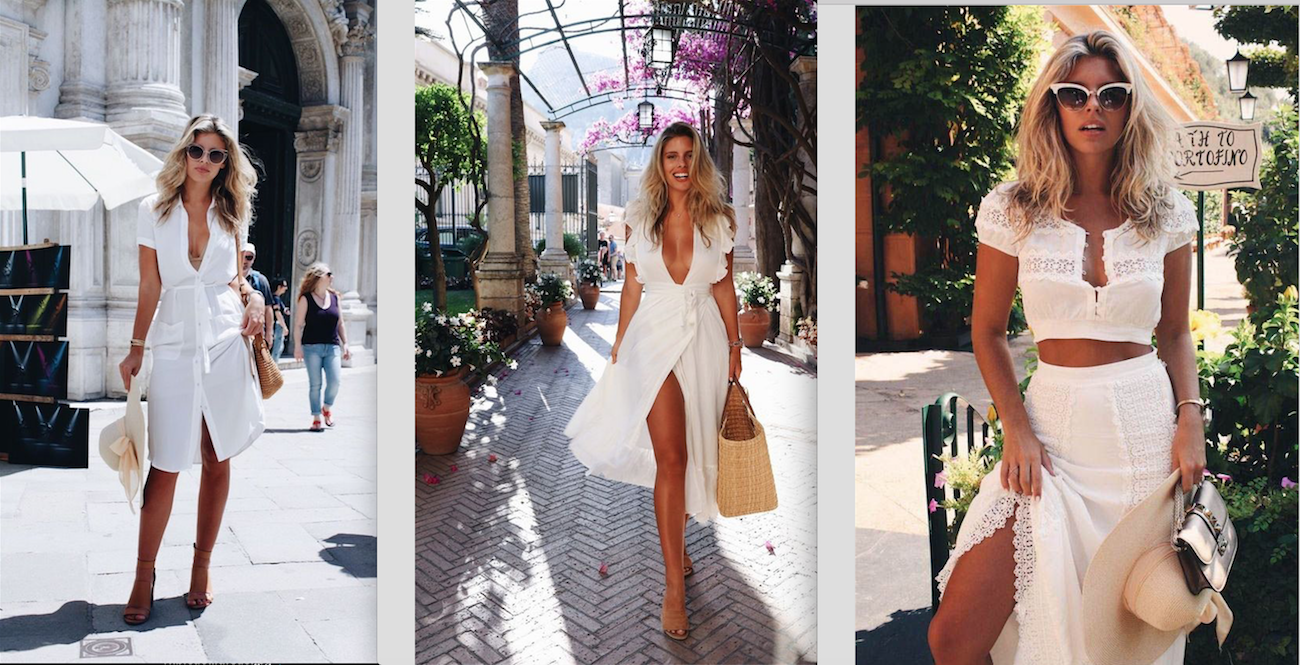 Summer dressing in white