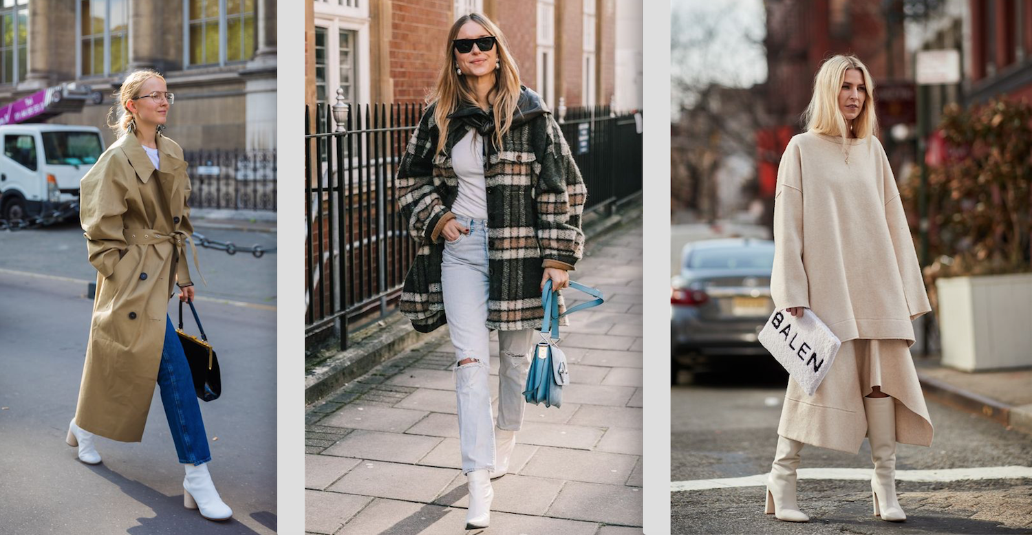 How to wear white boots this season